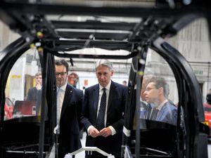 Philip Hammond during his visit yesterday