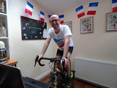 Cancer patient completing lockdown Tour de France to raise funds