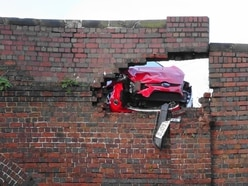 Damage to historic bridge was caused by head-on crash involving police and 'car thieves'