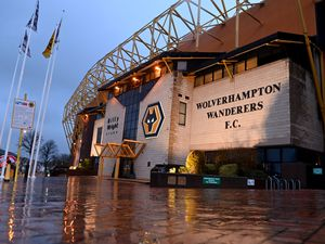 A general view of Molineux Stadium, home stadium of Wolverhampton Wanderers at dusk. (AMA)