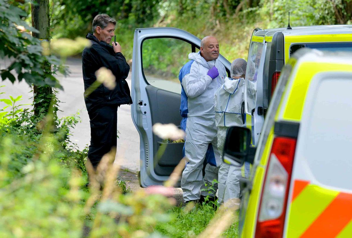 Specialist teams near the River Severn in Coalport during the search for Judy Fox