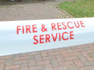 The fire happened in Ombersley Road, Halesowen