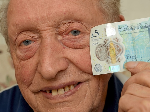 Where's one gone? Pensioner discovers new £5 note without Queen's head