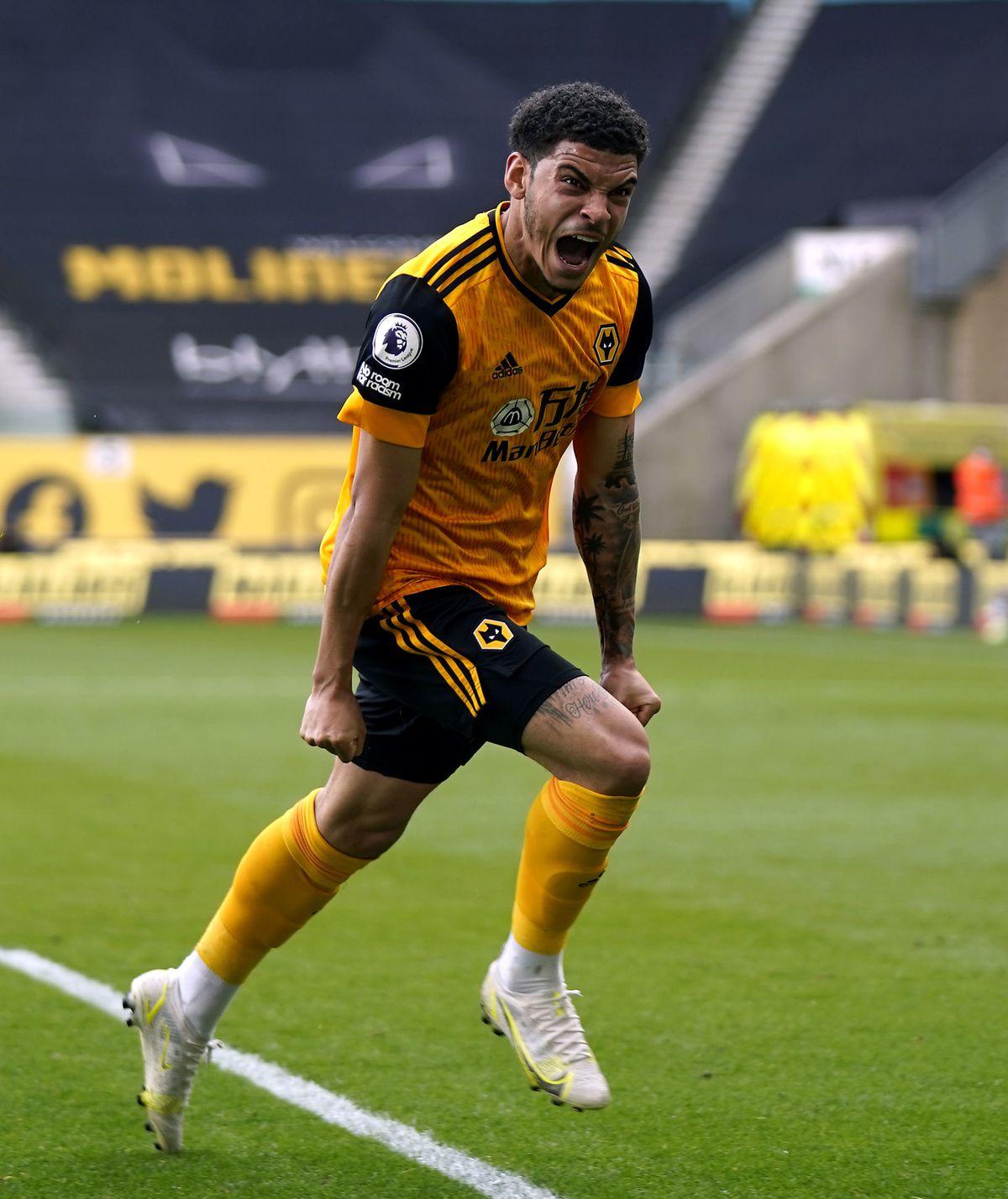 Wolverhampton Wanderers' Morgan Gibbs-White celebrates
