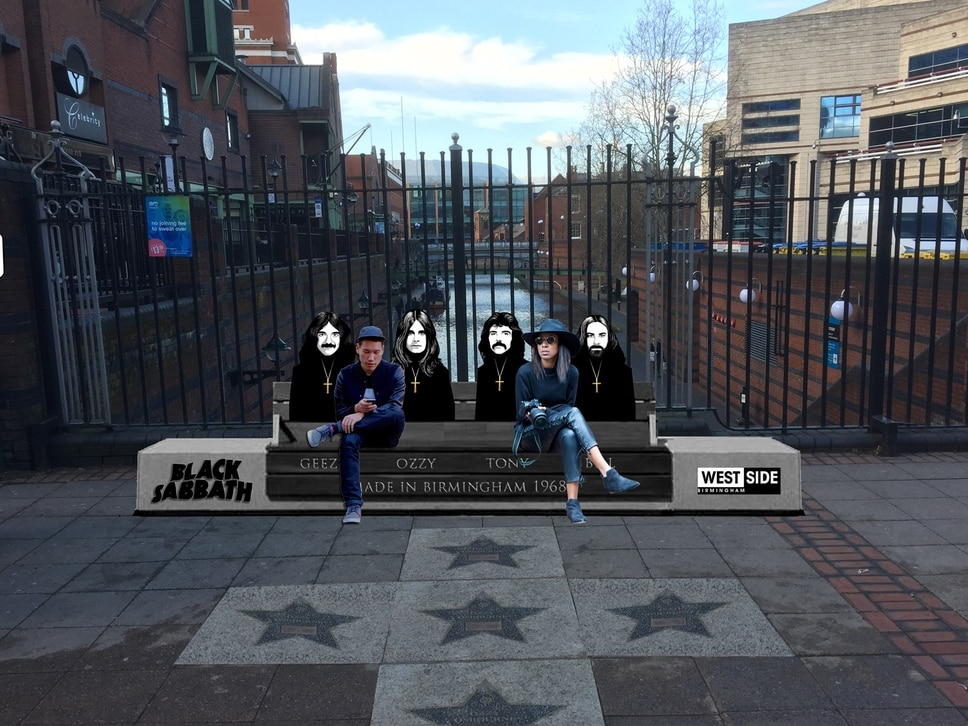 Fans move Heaven and Hell to see Black Sabbath bench unveiling
