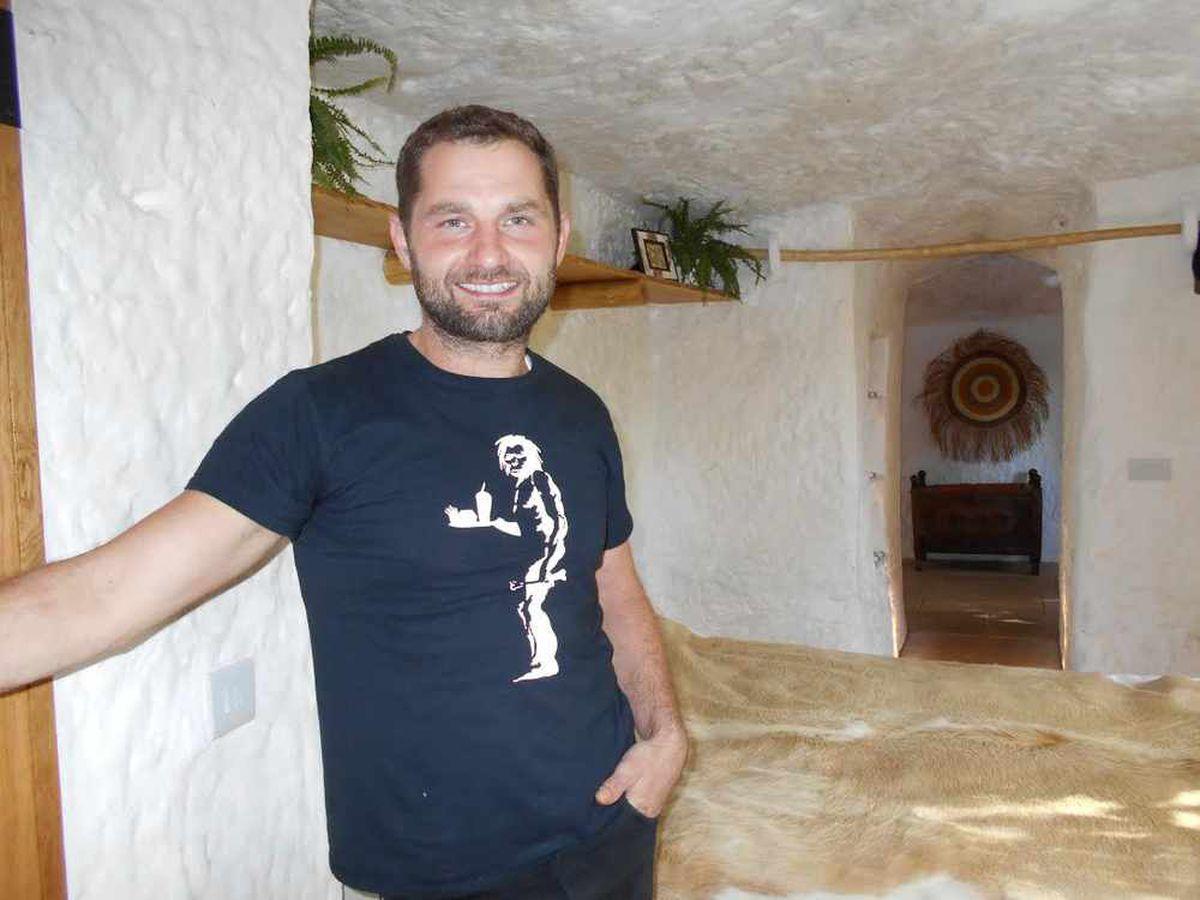 Angelo Mastropietro inside the house
