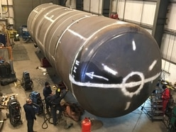 Giant oil separation vessel manufactured in Brownhills to hit the road