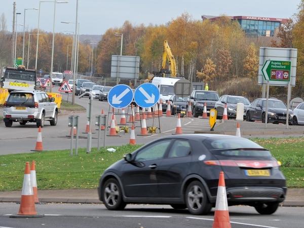 Traffic hell as Cannock designer outlet works ramp up