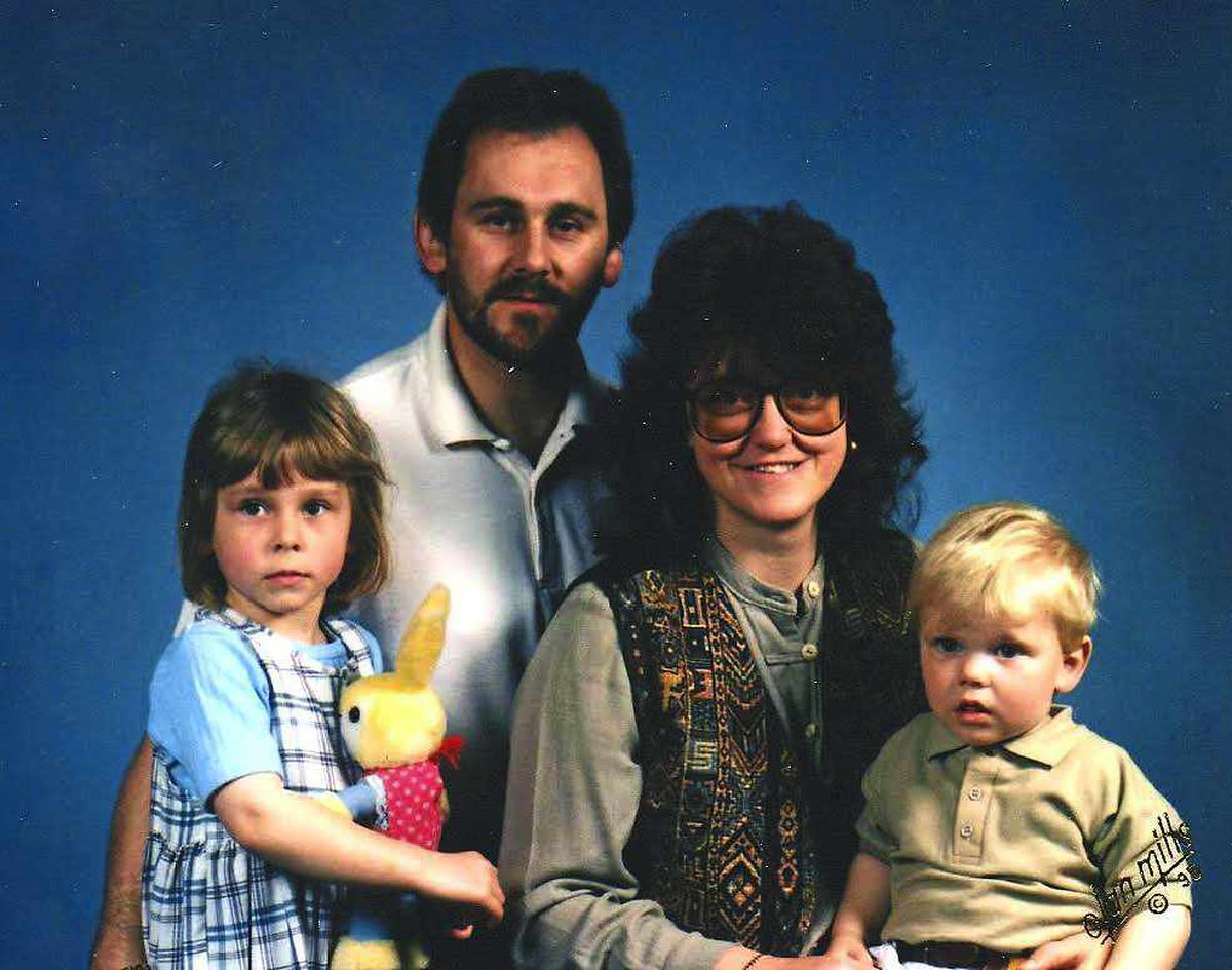 Before the tragedy - Charlotte with her parents and brother