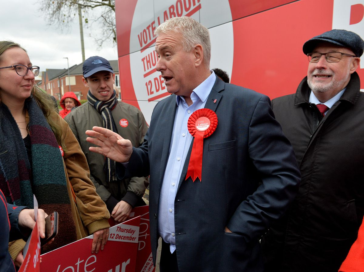 Labour Party chairman Ian Lavery hit the campaign trail in Walsall North with candidate Gill Ogilvie