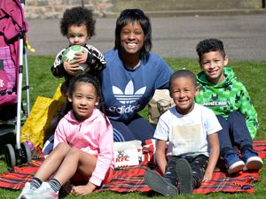 Michelle Simms and her family at Hayden Hill Park, Cradley