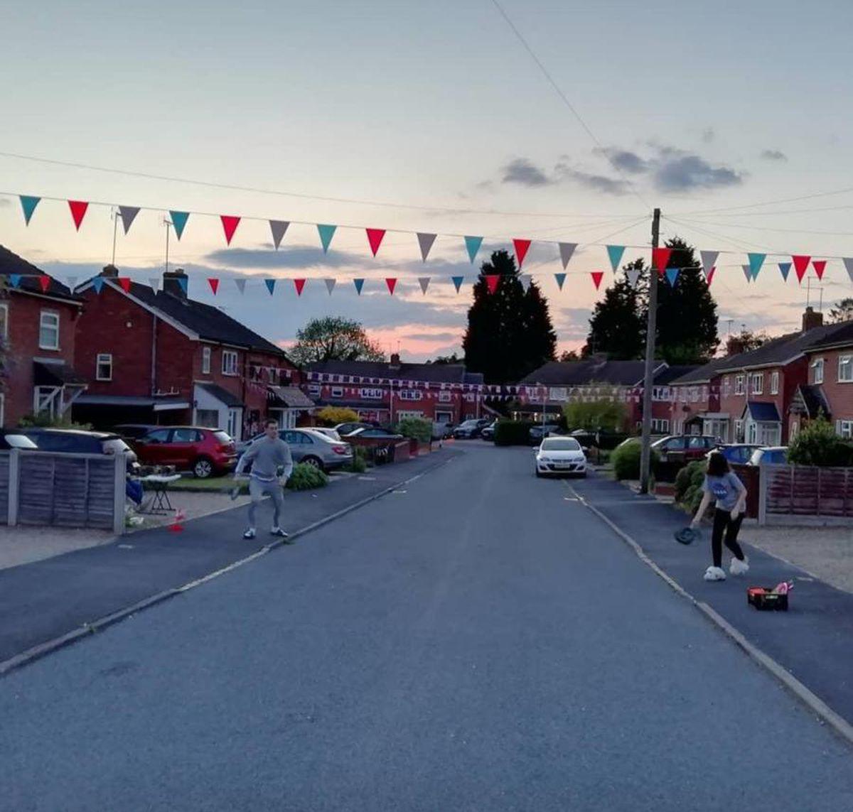 A street in Stourbridge celebrating VE Day