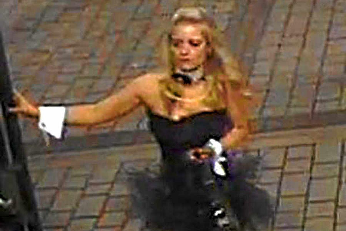 Bunny girl guilty of train assault