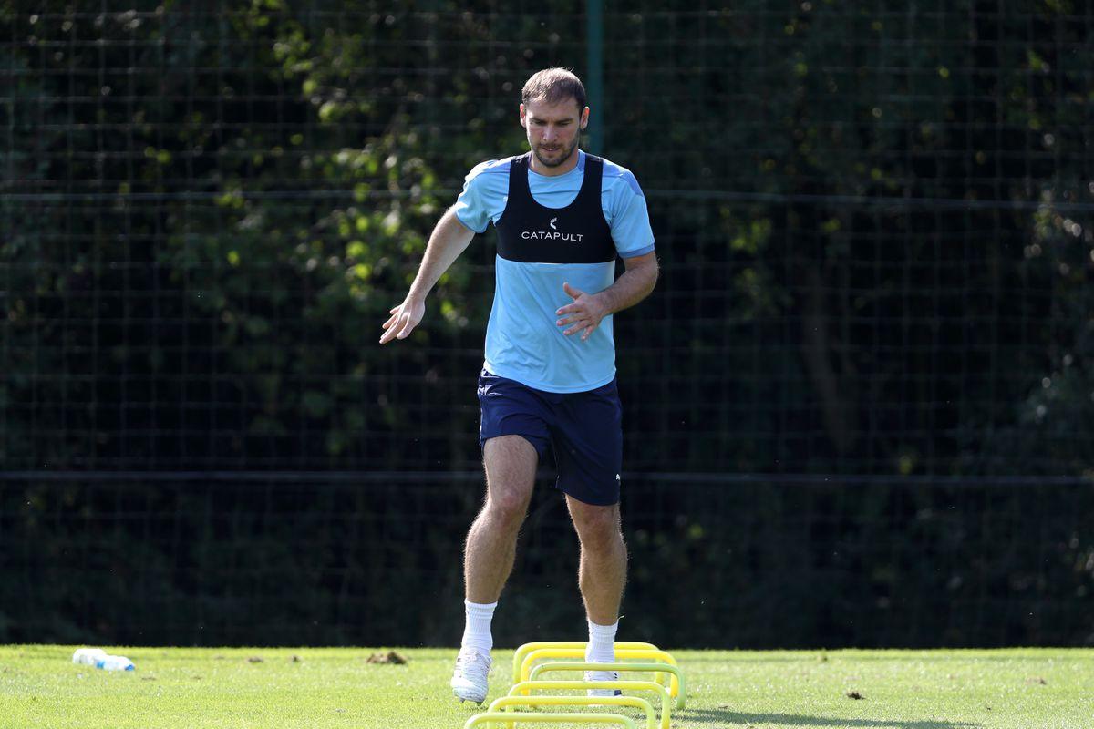 New signing Branislav Ivanovic of West Bromwich Albion training. (AMA)