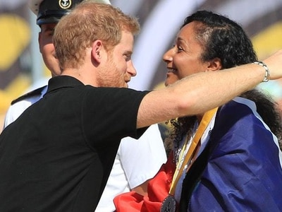 Harry hands out Invictus medals but there is no show from Meghan Markle