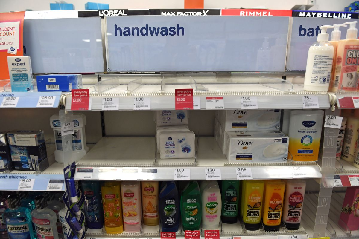 As uncertainty over Coronavirus continues Boots sells out of handwash at many of its stores