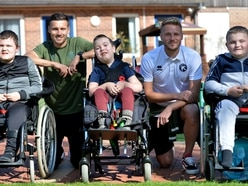 Walsall stars visit Acorns to show club's support