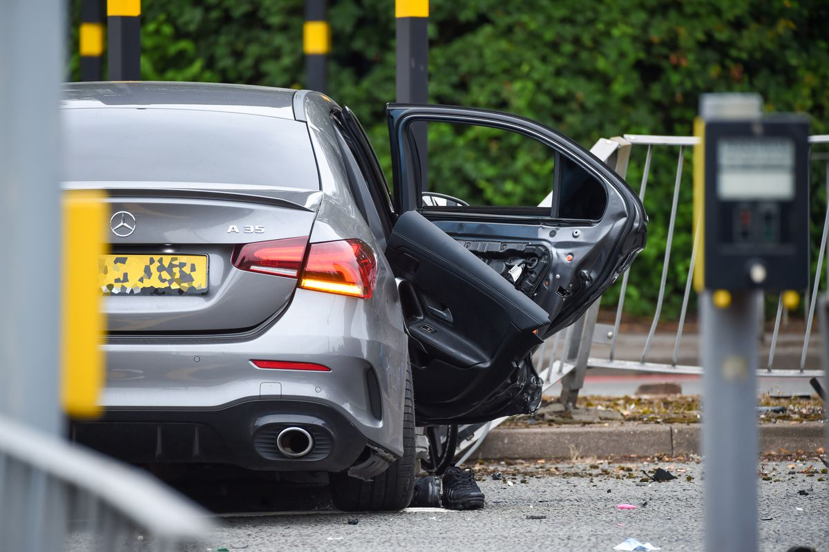 The aftermath of the crash on New John Street West in Birmingham. Photo: SnapperSK