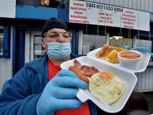 Alfred Gee, from Brownhills, from Brandon Way Cafe, in West Bromwich, which is offering a breakfast available for schoolchildren