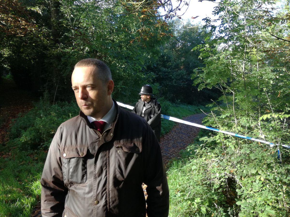 Detective Superintendent Tom Chisholm at scene