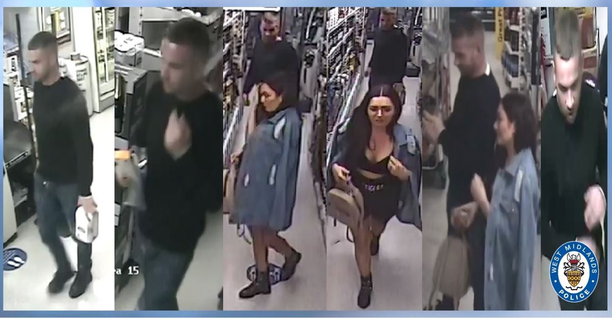 Police want to speak to these two people. Photo: West Midlands Police