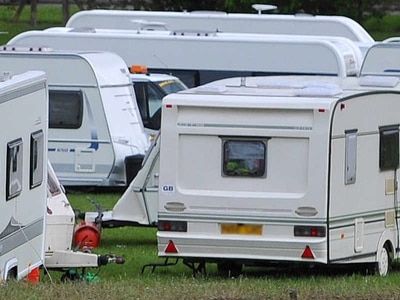 Travellers' caravans pitch up on Walsall playing fields