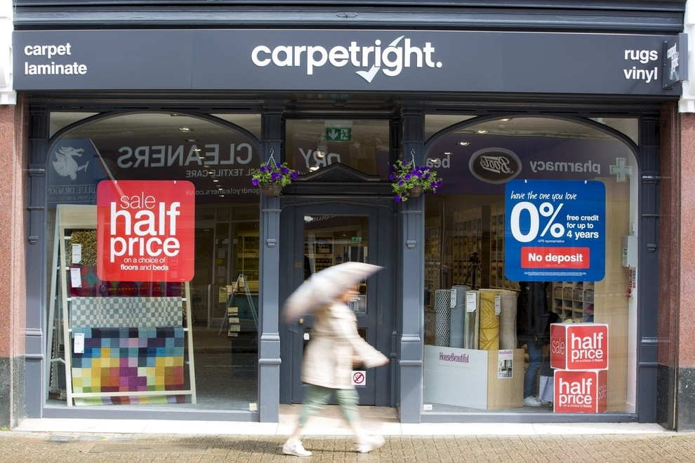 There are fears Carpetright could be about to close stores and axe jobs as part of a rescue plan