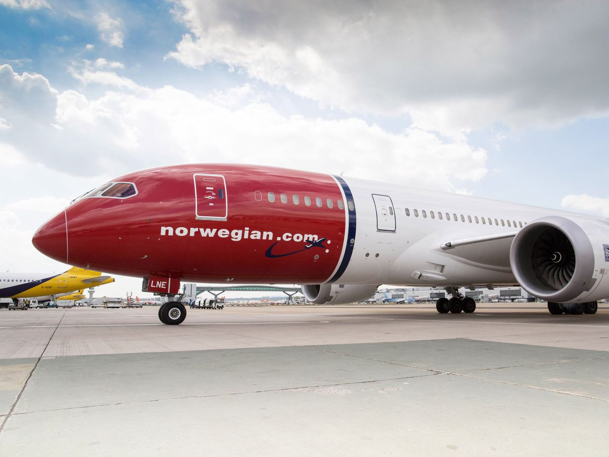A Norwegian plane
