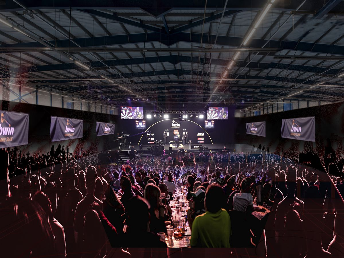 Artist's impression of the Grand Slam of Darts at Aldersley Leisure Village