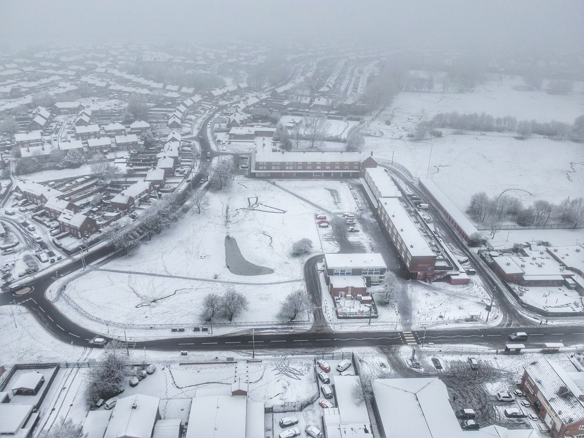 Paul Turner used his drone to capture the snowy scene in Ashmore Park, Wednesfield
