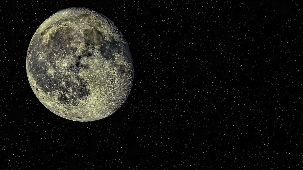 A view of the moon