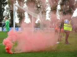 Stourbridge FC to ban those responsible for throwing flares during Halesowen game
