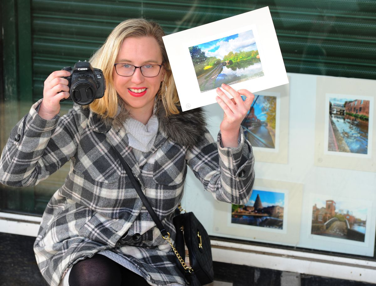 Sally Shillingford, of Kinver, who has some of her photographic work exhibited at the Swan Centre, Kidderminster