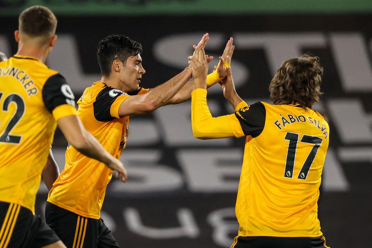 Raul Jimenez of Wolverhampton Wanderers celebrates after scoring a goal to make it 1-2 (AMA)