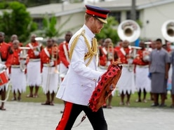Harry pays tribute to Fiji's fallen soldiers in solemn ceremony