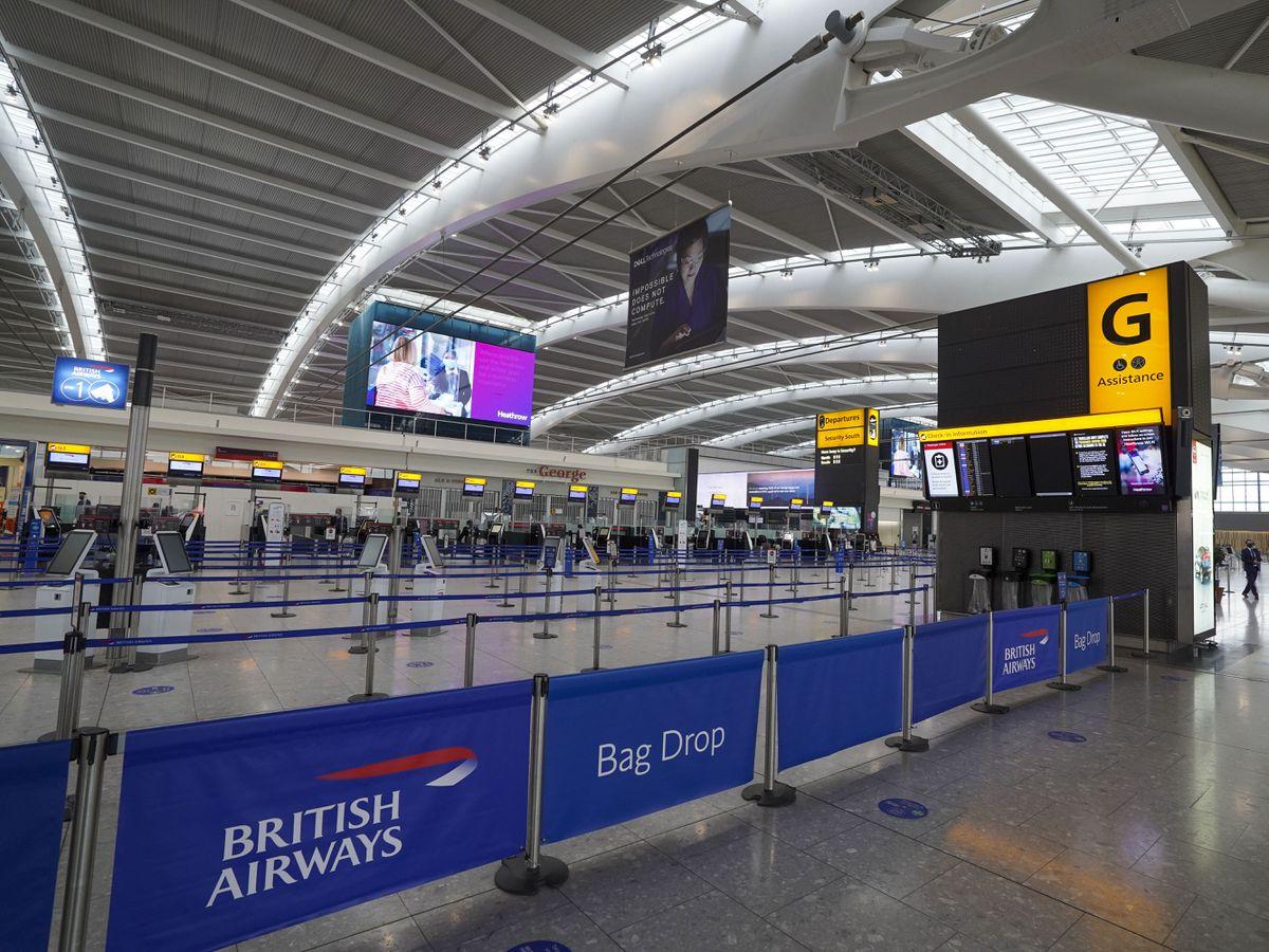 The departures area in Heathrow Terminal 5