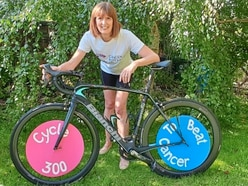 Prof Pam gets back in the saddle for Cancer Research UK