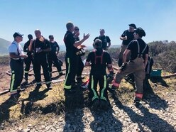 Saddleworth Moors blaze: Black Country firefighters join battle to quell flames