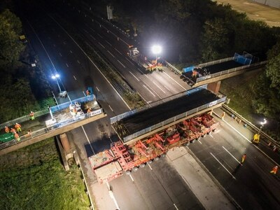 M6 reopens after 11-hour closure to remove bridge - with VIDEO and PICTURES