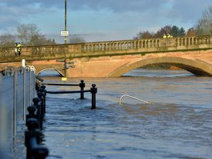 River Severn flooding in Bewdley in January