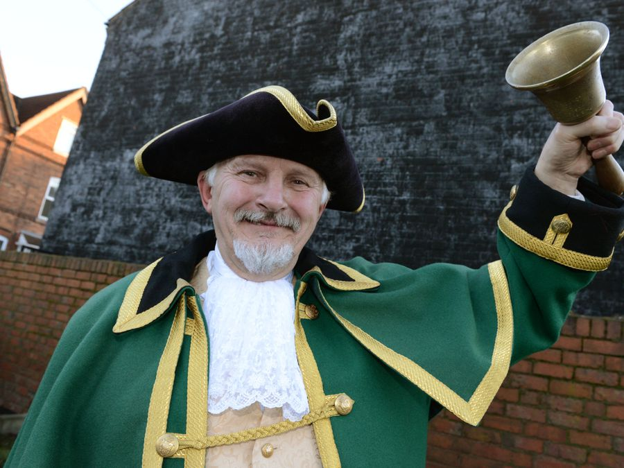 SANDWELL NEWS EXPRESS & STAR ( JOHN SAMBROOKS)  20/01/2020..Sandwell town crier Adrian Holmes pictured after giving a talk at Langley Library..........................................................................................................................................................................................................................  .............................