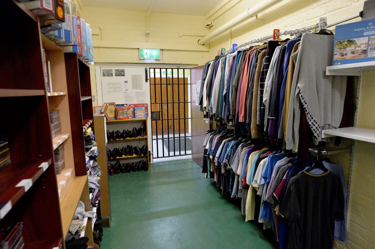 The charity shop at HMP Stafford