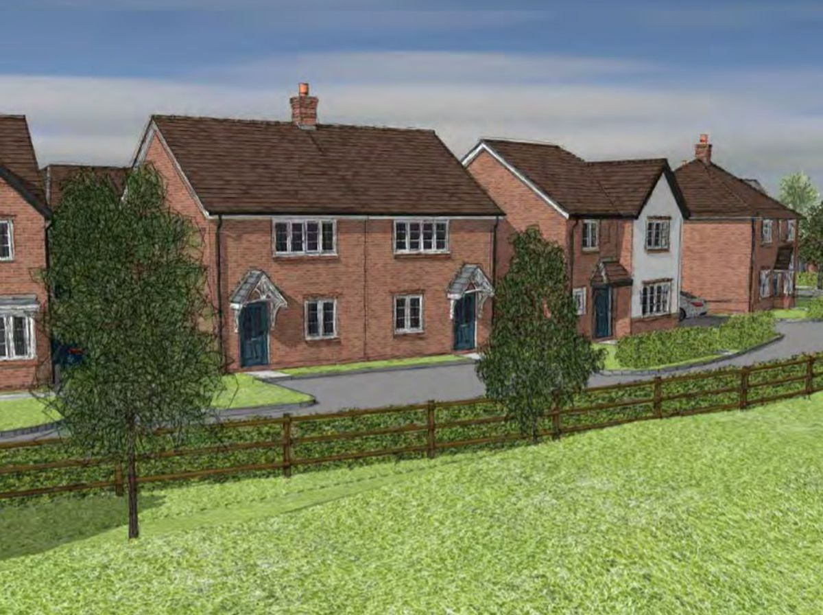 An artist's impression of how the proposed development would look