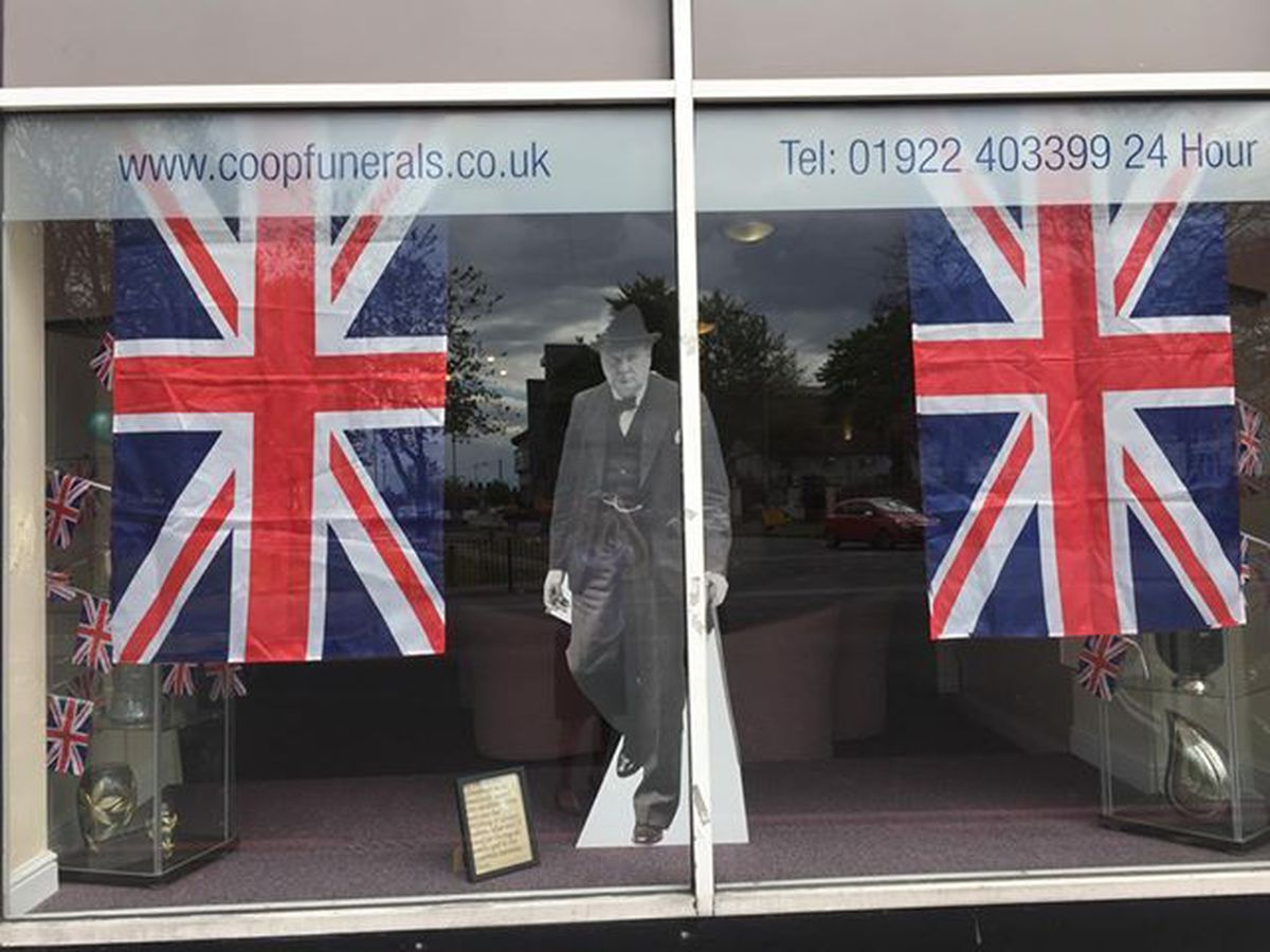 Amanda Westley and Laura Griffiths made this VE Day window display at Co-operative Funeralcare in High Street, Bloxwich
