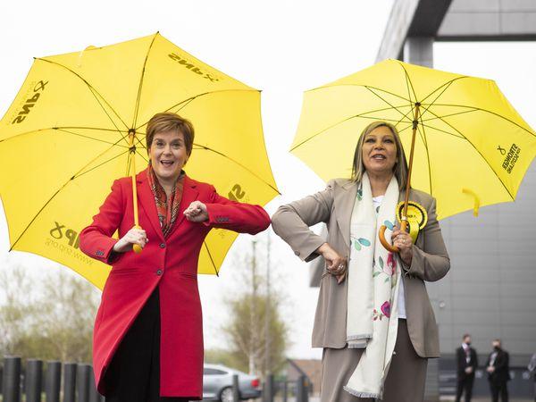 Nicola Sturgeon and Kaukab Stewart