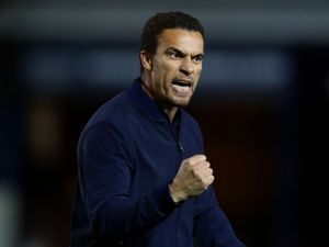 Valerien Ismael Head Coach / Manager of West Bromwich Albion celebrates the 0-1 win at the final whistle. (AMA)