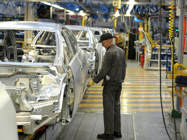 Operating under World Trade Organisation tariffs would cost the UK's automotive sector up to £55 billion by 2025, an industry body has claimed (Martin Rickett/PA)