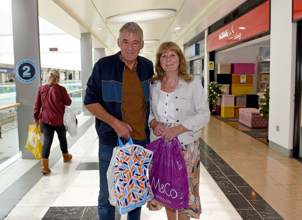 David and Sally Howells from Tettenhall were among those to be shopping today in Wolverhampton