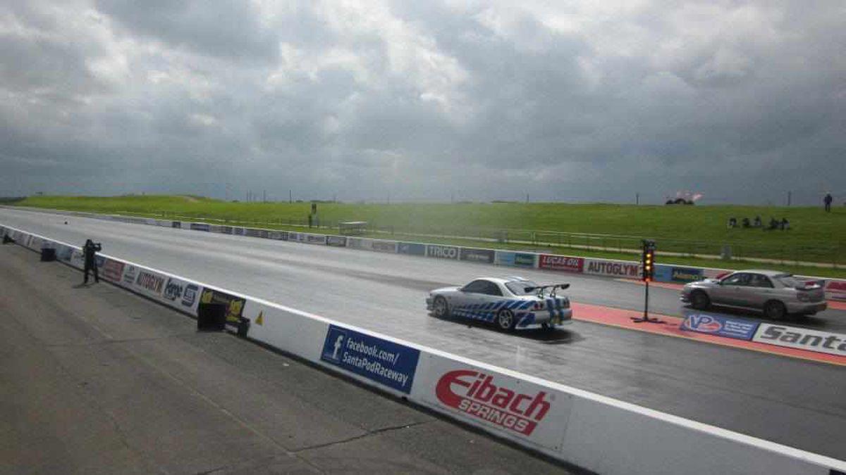 Shane Lloyd racing at Santa Pod
