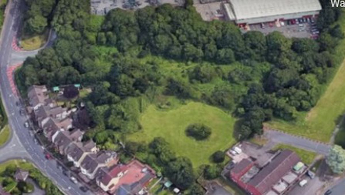 The planned travellers site on Gorsebrook Road